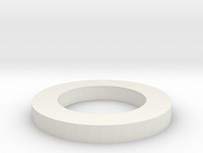 16x NeoPixel Ring Holder in White Natural Versatile Plastic