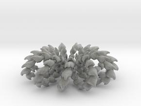 Wave Ring - 4cm in Metallic Plastic