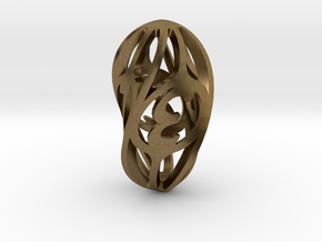 Twisty Spindle d4 in Natural Bronze