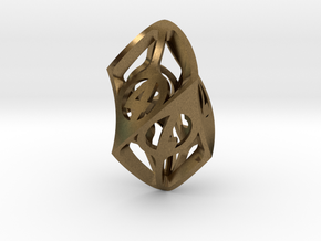 Twisty Spindle d6 in Natural Bronze