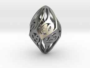 Twisty Spindle d10 Decader in Natural Silver