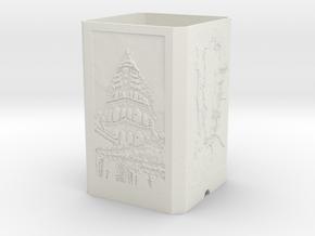 Lamp Shade in White Natural Versatile Plastic