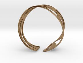 Triangulation Bracelet in Natural Brass