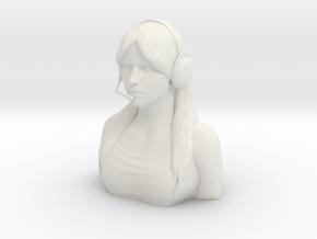 Female Pilot Figure 1/6 in White Natural Versatile Plastic