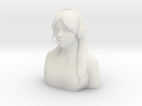Female Pilot Figure 1/4 in White Natural Versatile Plastic