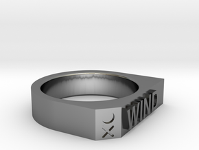 Wind Ring - Captain Series - Mulder&Skully in Fine Detail Polished Silver