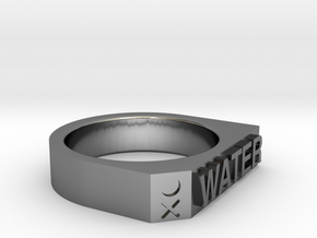 Water Ring - Captain Series - Mulder&Skully in Premium Silver
