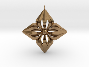 Star Ornament in Natural Brass