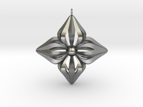 Star Ornament in Natural Silver