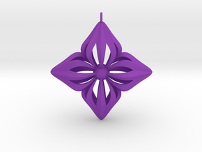 Star Ornament in Purple Strong & Flexible Polished