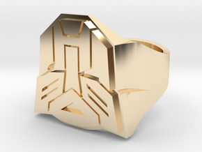 [Transformer] Autobot-ring Size #6 in 14K Yellow Gold