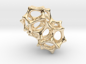 VORONOI CLUSTER II  (Pendant) in 14K Yellow Gold