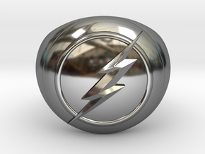 Flash Ring Size US14 in Fine Detail Polished Silver
