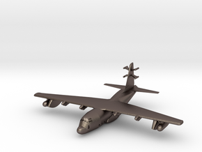 1:700 Lockheed EC-130j Commando Solo Military Airc in Polished Bronzed Silver Steel