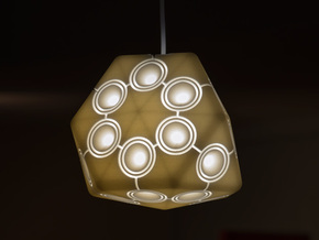 Minipod Pendant Lamp in White Natural Versatile Plastic