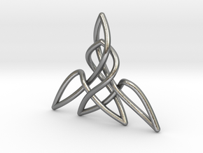 Triquetra Pendant 2 in Natural Silver
