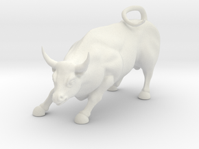 Charging Bull Statue Of Wall Street in White Strong & Flexible