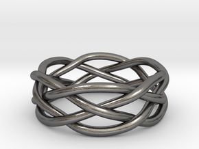 Dreamweaver Ring (Size 8) in Polished Nickel Steel