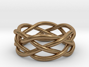 Dreamweaver Ring (Size 8.5) in Natural Brass