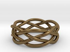 Dreamweaver Ring (Size 9.5) in Natural Bronze