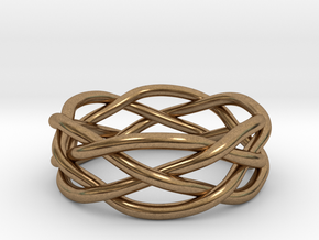 Dreamweaver Ring (Size 13) in Natural Brass