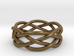 Dreamweaver Ring (Size 13) in Natural Bronze