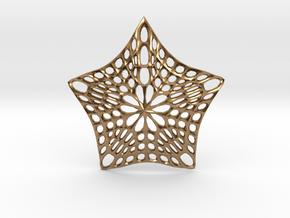 Decorative Ornament 'Star' in Natural Brass