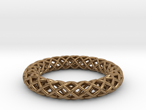 Wire mesh ring (US 6¼) in Natural Brass
