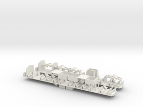 E44 Chassis + Bogies - N - 1:160 in White Natural Versatile Plastic