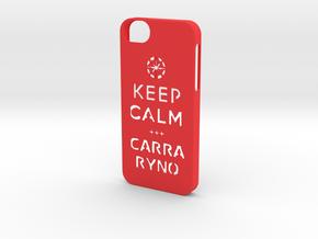 Iphone5 Keep Calm in Red Processed Versatile Plastic