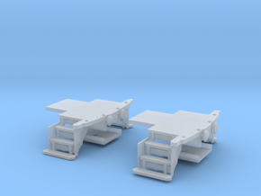 HO scale Woodruff sleeper end platforms in Smooth Fine Detail Plastic