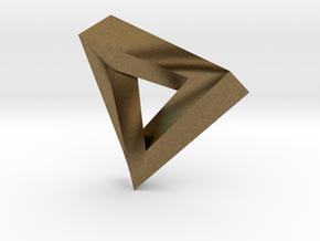 Impossible Pendant! in Raw Bronze