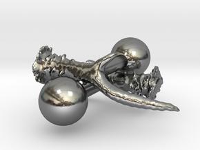 Hunters Antler Cufflinks in Polished Silver