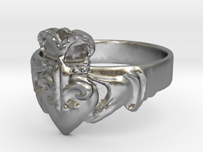 NOLA Claddagh, Ring Size 11 in Natural Silver