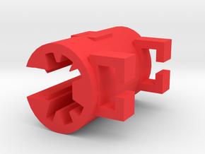 The Pencil Clip in Red Processed Versatile Plastic