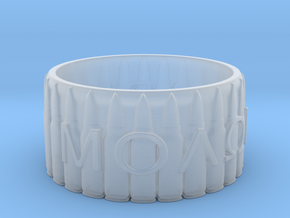 MOLON LABE, Come And Take Them, Ring Size 9 in Smooth Fine Detail Plastic