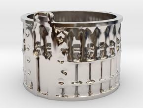 AK-47 75rnd. Drum, Ring Size 14 in Platinum