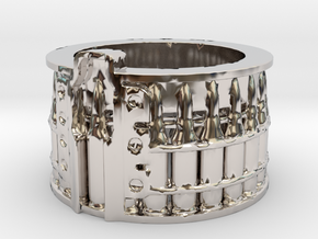 AK-47 75 rnd. Drum, Thick version, Ring Size 14 in Platinum