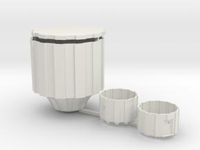 Watertoren Schaal H0 (1:87) in White Natural Versatile Plastic