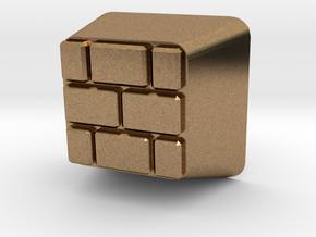 Brick Block Cherry MX Keycap in Natural Brass