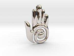 Healer's Hand Charm in Platinum