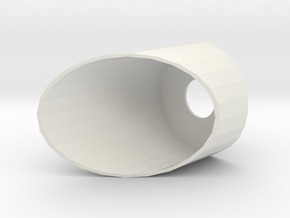 40mm Slanted CRD in White Natural Versatile Plastic
