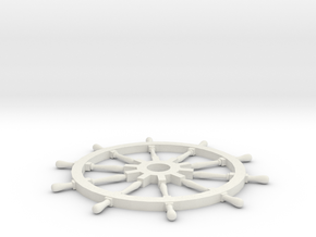 Ships Wheel in White Natural Versatile Plastic