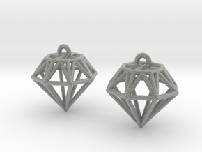 Diamond Earrings in Metallic Plastic