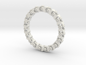 Universal Joint Bracelet v2.0 in White Natural Versatile Plastic