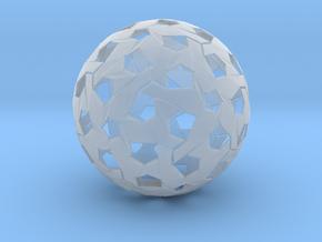 Hexagonal Weave Sphere in Smooth Fine Detail Plastic