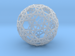 Triangulated Sphere in Smooth Fine Detail Plastic