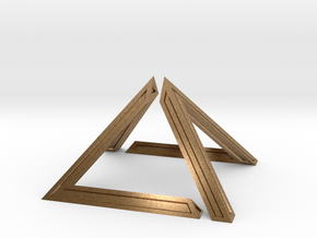 David Pyramid Thick - 6cm in Natural Brass