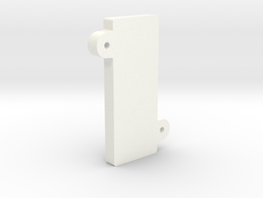 V1 - Screen Clamp in White Processed Versatile Plastic