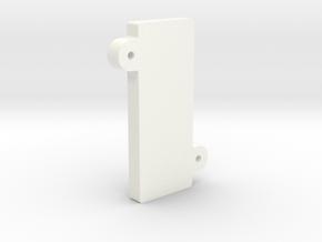 V1 - Screen Clamp in White Processed Versatile Plastic